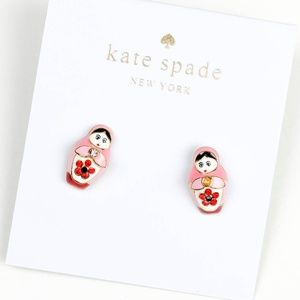 kate spade pink Russian doll earrings